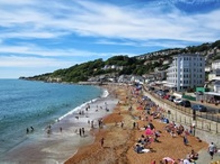 Ventnor seafront in August