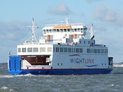 Wightlink ferry on a sunny day