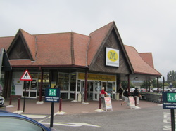 Entrance to Morrisons on the Isle of Wight