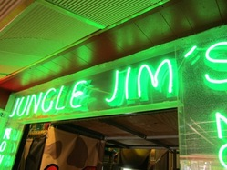 Neon sign at Jungle Jim's in Shanklin