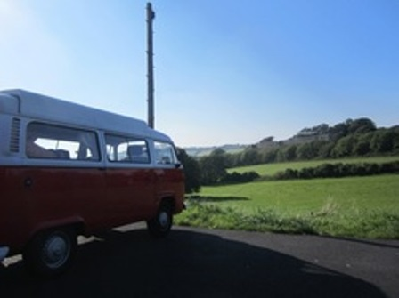 Campervan at Carisbrooke Castle