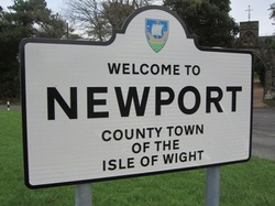 Sign saying welcome to Newport