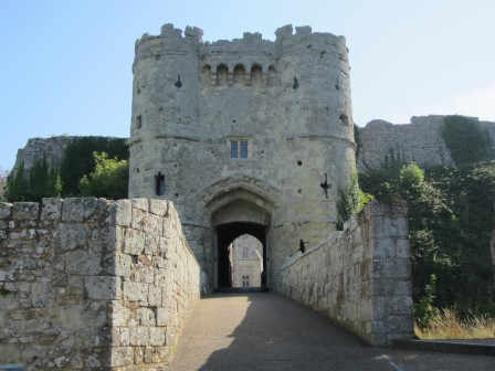 Carisbrooke Castle gatehouse on the Isle of Wight
