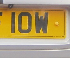 Isle of Wight numberplate