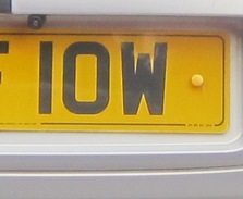 IOW personalised numberplate