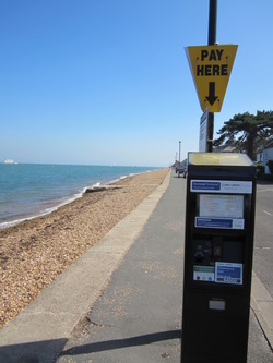 Parking metre at Cowes beach
