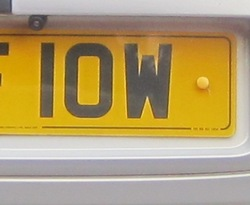 IOW car number plate
