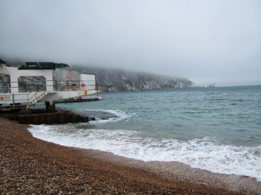 Foggy day at Alum Bay