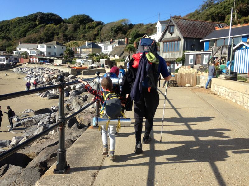 Hikers at Steephill Cove
