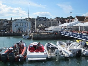 RIBs at Cowes for Cowes Week