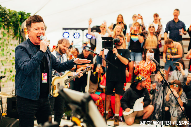 Rick Astley at Isle of Wight Festival 2019