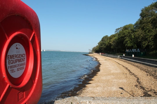 Shingle beach at East Cowes