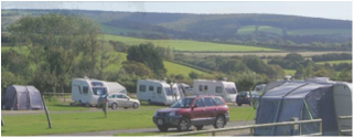 Tents at The Orchards Holiday Park
