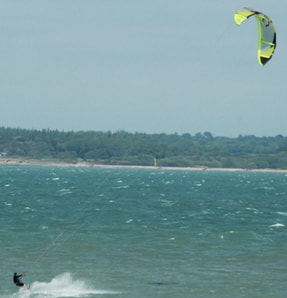 Kite surfer at Gurnard